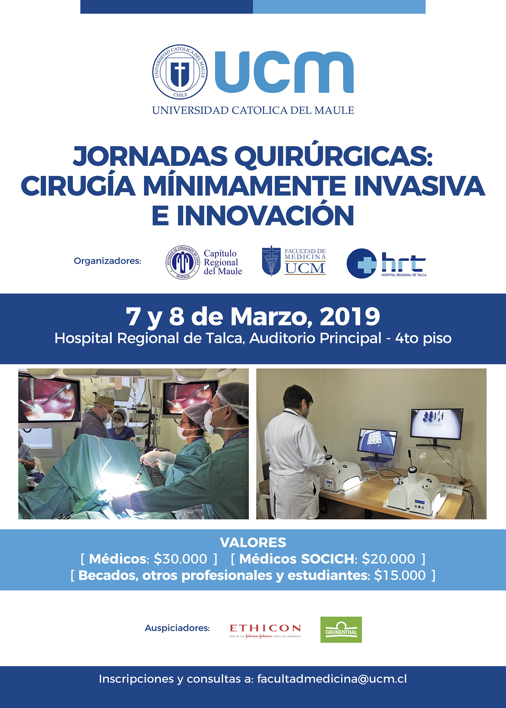 Primeras Jornadas Quirúrgicas de la SOCICH, junto al HRT y Medicina UCM se realizarán el 7 y 8 de marzo