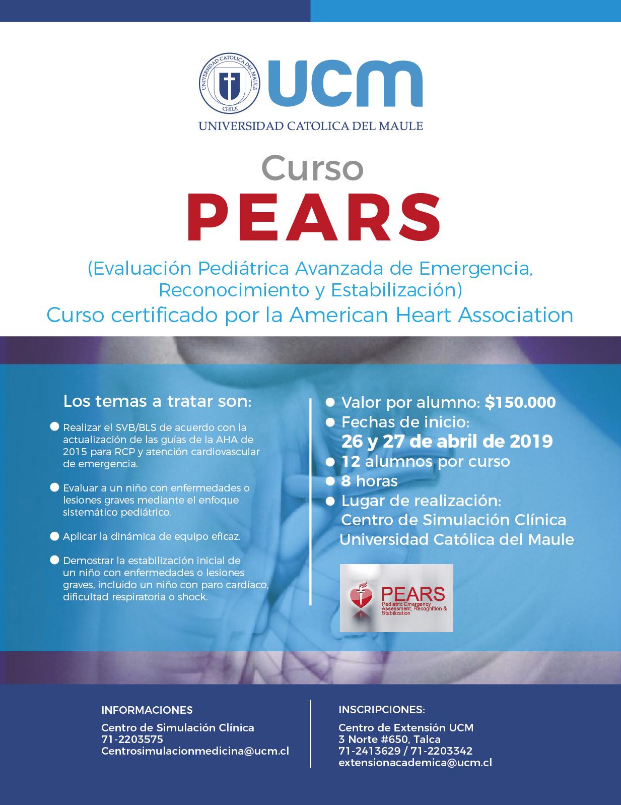 Curso para Proveedores PEARS se dictará el  26 y 27 de abril de 2019